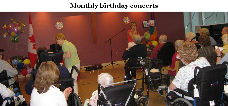 Monthly birthday concerts